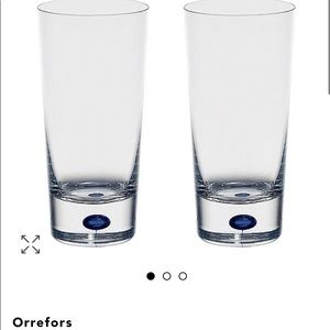 Intermezzo blue set of  2 highball glasses